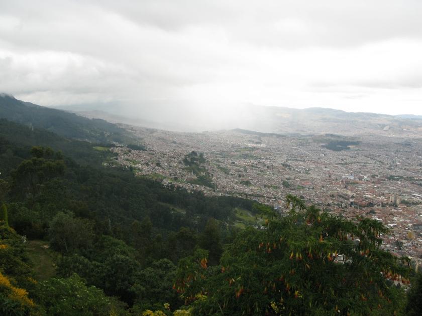 Bogota below